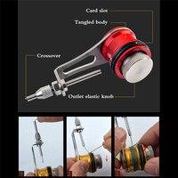 Bobina de pesca knotter fg gt rp linha fio knotting ferramenta cabo conector linha de pesca winder assist knotting máquina