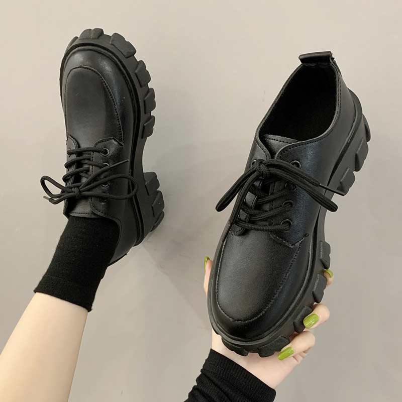 Autumn Boots Women Platform Shoes Thinken Heel Chunky Sneakers Black Punk Boots Shoes Height Increasing Botas De Mujer 2020