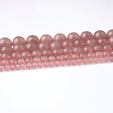 Linxiang Natural Strawberry Crystal Beads DIY Fashion Accessory Hand