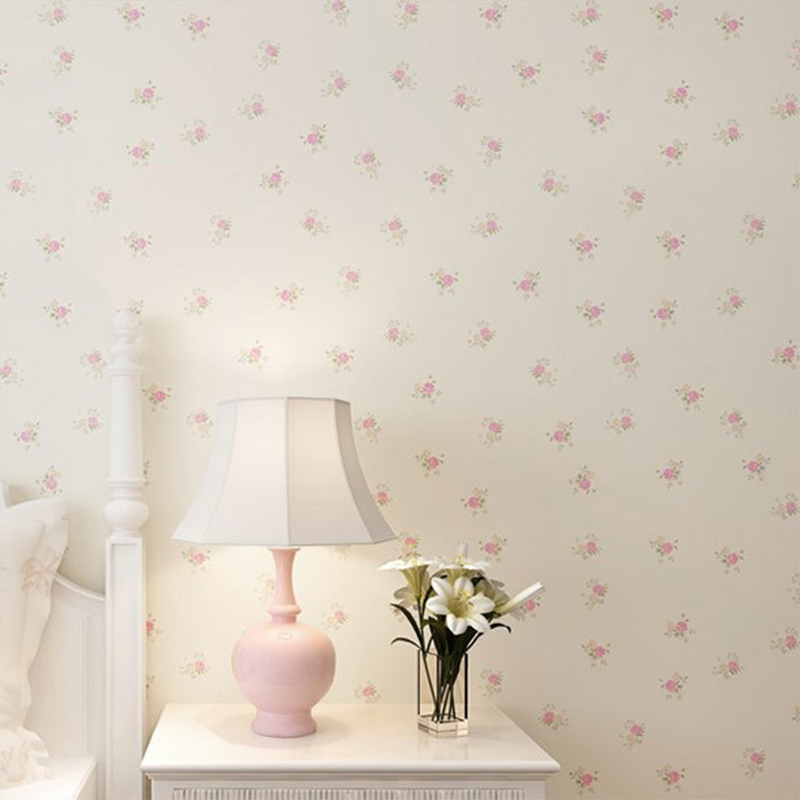 3D Flower Floral Wallpaper Roll Contact Paper Non-woven Embossed Pink Wallpaper For Girls Bedroom Living Room Decor Wallcovering