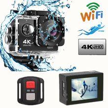 Cámara de Acción Ultra HD 4 K, videocámaras wi-fi de 8MP, 170 go, 4 K deportiva, 2 pulgadas, f60, deportiva, impermeable, 1080P, 60fps