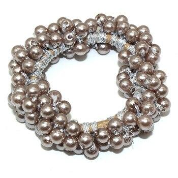 14 Colors Woman Elegant Pearl Hair Ties Beads Girls Scrunchies Rubber Bands Ponytail Holders Hair Accessories Elastic Hair Band 14