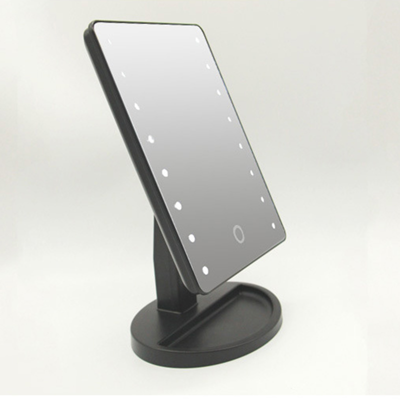 New Intelligent Adjustable Brightness 16 Lamps/22 Lamps LED Illuminated 10x Makeup Mirror SCI88