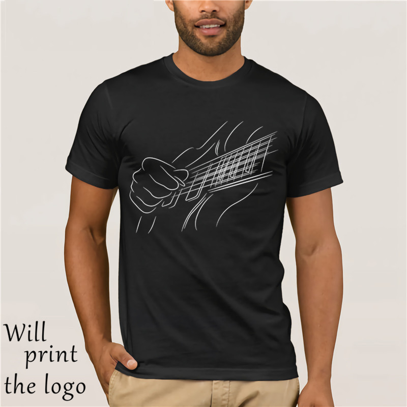 Electric Guitar Player T-Shirt For Musicians and Guitarists image