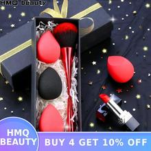 Makeup Brush Sponge Puff Set Blush Foundation Brush Super Soft Sponge Cosmetic B