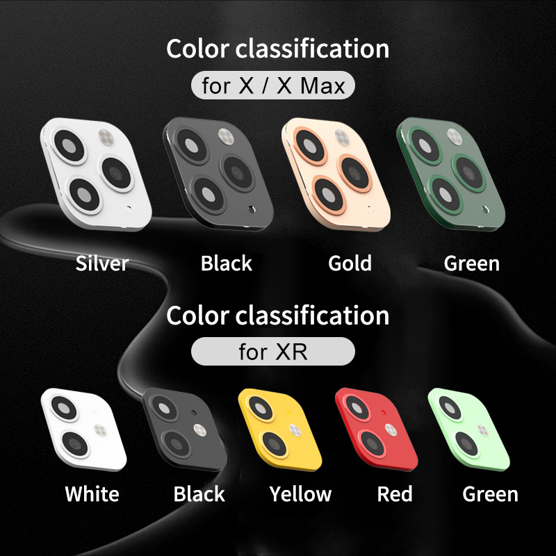 Image 3 - 3D Fake Rear Camera Lens Sticker For iPhone X XS Max Seconds Change To 11 Pro Max XR Modified iPhone11 Metal Back Protector Film on