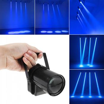 Mini 5W Blue LED Stage Light Lamp Projector Disco Dance Party Club KTV DJ Bar Spin Laser Lighting Effect Spotlight hot