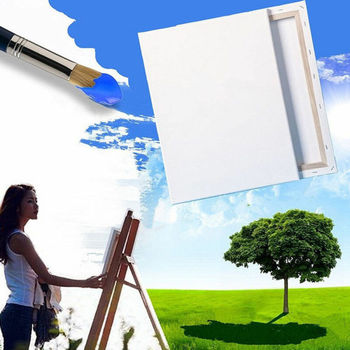 Artist Blank Stertched Acrylic Box Framed Cotton Art Canvas Painting HY Sales
