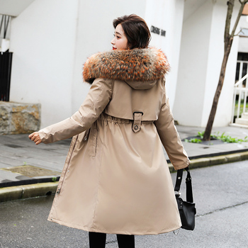 2020 New Winter Jacket Women Fur Collar Long Womens Winter Coat Thick High Quality Warm Down Jackets Parka Outwear 2020 parka winter women jacket fur collar hooded winter warm thick short parka winter coat outwear jacket