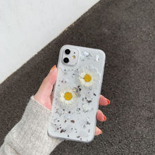 Simple Glitter Daisy Flower Phone Case For iPhone 11 11 Pro Max XR XS X 7 8 6 6S Plus Soft Cover Protect Cases