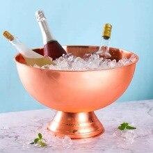 1 шт., нержавеющая сталь, чаша для льда, гальваническое покрытие, металлические чаши для шампанского, для дома, бара, отеля, поставки, большое ведро для льда, чаши для мороженого ZPJ054
