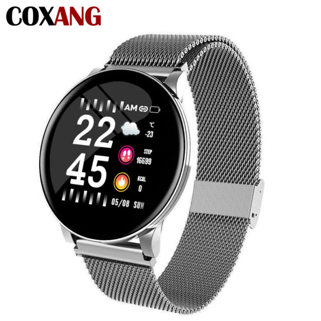 COXANG Wearfit Smart Watch W8 For Men Blood Pressure Heart Rate Fitness Tracker Pedometer Man Sport Smartwatches For Android IOS