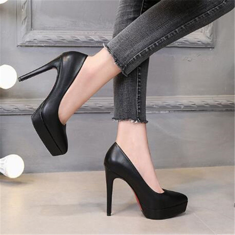 Women's Pumps Shoes Sexy Thin Heel High Heels 12CM Pointed Pumps Women Shoes Platform Wedding Shoes Party Shoes