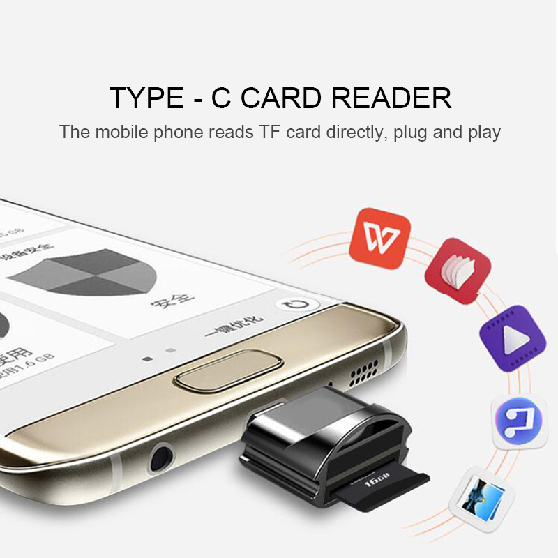 USB 2.0 /1.1 Type C Micro TF / SD / Micro SD Card Reader Type C USB-C OTG Adapter For Smartphones Android/Tablets /PC /Laptop