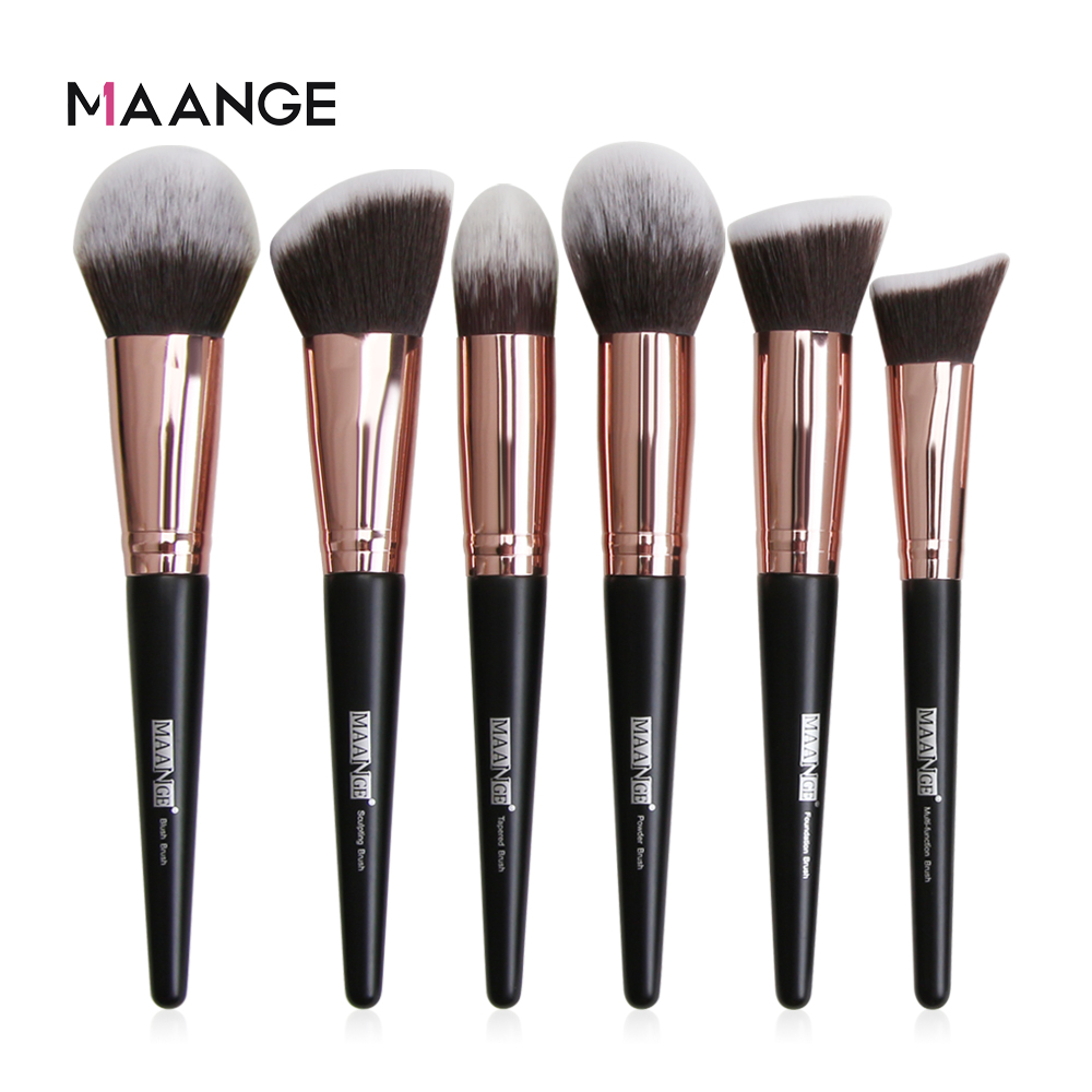 MAANGE 1 Pcs Large Foundation Makeup Brushes Soft Hair Blush Powder Concealer Make Up Brush Face Beauty Cosmetic Tools