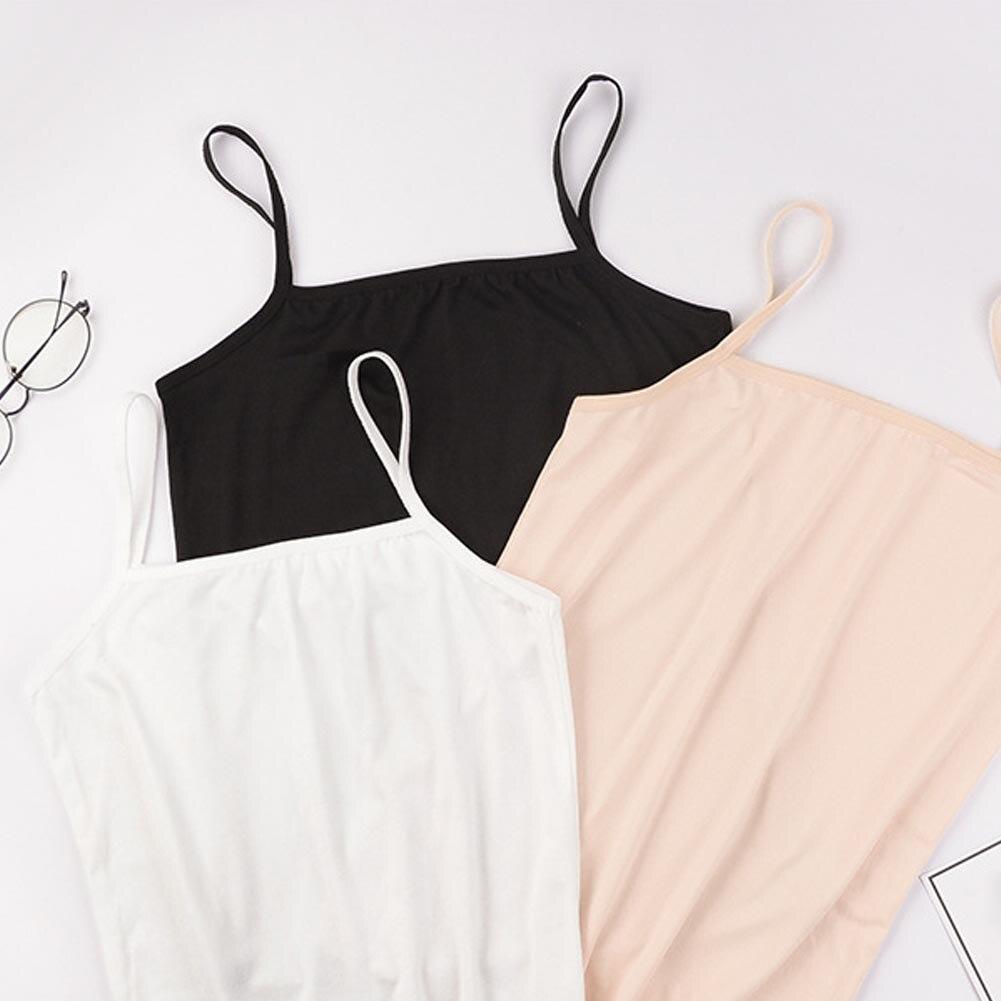 Woman Camisole Summer Plain Sleeveless Ladies Stretch Cami Tops Free Size Ladies Tees Slim Vest Tank Top Underwear Women
