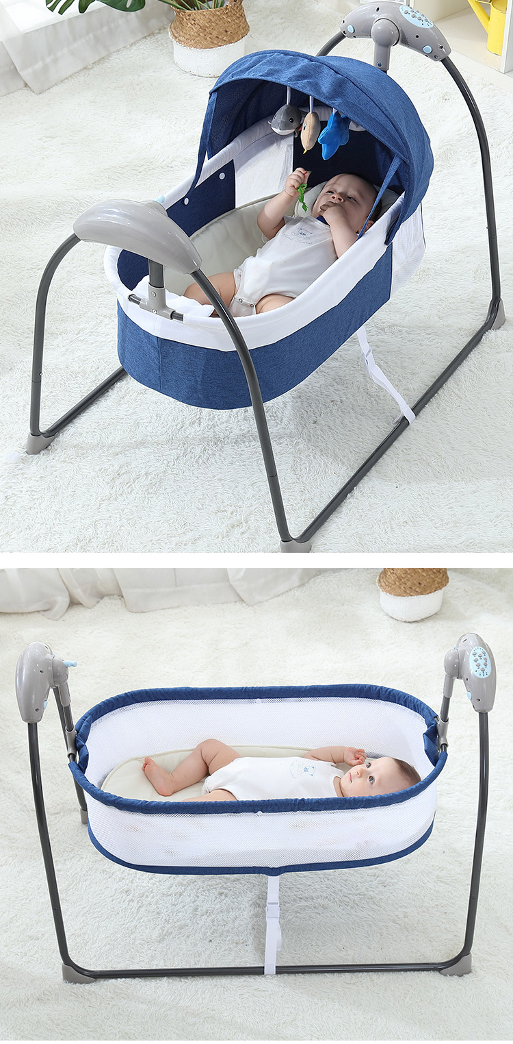 Hafad76da8a5e47f28e3bff94158eb65bX Bluetooth Control Swing Baby Rocking Chair Electric Baby Cradle Remote Control Cradle Rocking Chair For Newborns Swing Chair