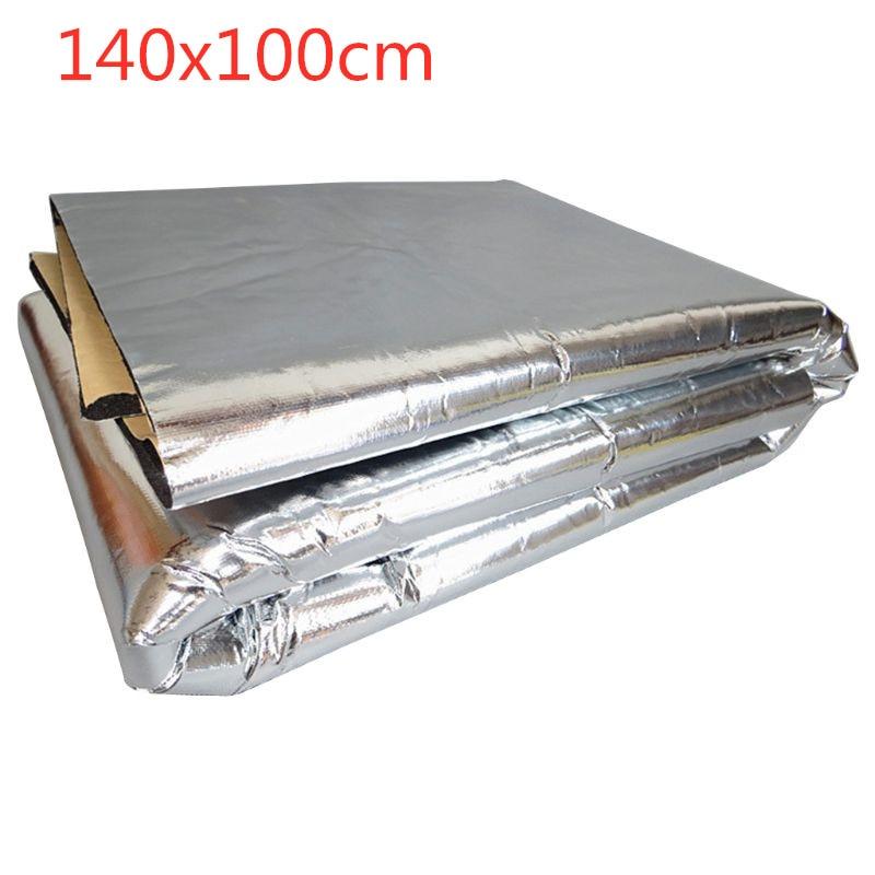 140x100cm Car Sound Deadener Mat Noise Bonnet Insulation Deadening Hood Engine Firewall Heat Foam Sticker