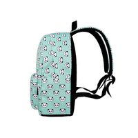 Cute Panda Printed Backpack Teenager Travel Laptop Daypack School Bookbag for Women Girls 517D
