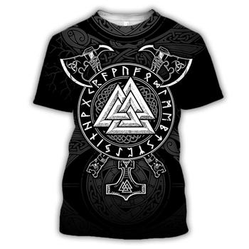 Viking symbol - odin Tattoo 3D Printed men women t shirt Harajuku Fashion Short sleeve shirt summer streetwear tshirt tops 2