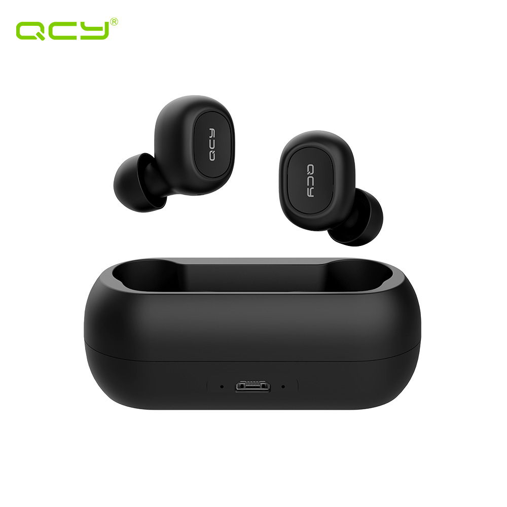 Earphones & Headphones QCY QCYT1CBL wireless headphone bluetooth headset earphone in ear apple airpods bluetooth earphone wireless headphone headphone with microphone bluetooth earphone in ear