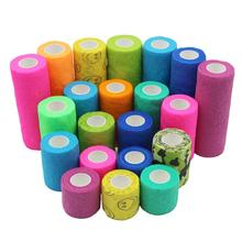 Breathable Self Adhesive Bandage Sports Safety Elastic First Aid Health Care Gauze Protect Tape for Stretch Athletic Wrist Ankle