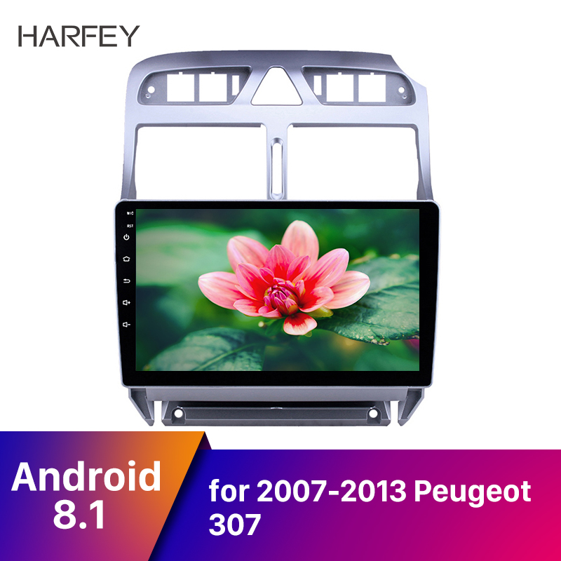Harfey <font><b>2din</b></font> 9'' Car Multimedia Player GPS Navi Android 8.1 Audio <font><b>for</b></font> <font><b>Peugeot</b></font> <font><b>307</b></font> Auto Stereo Headunit Car <font><b>Radio</b></font> HD Touchscreen image
