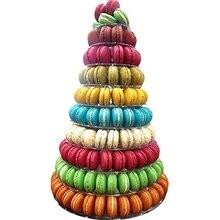 10 Tầng Tháp Macaron Macaron Đỡ Tròn Đế Bánh Nhựa PVC Khay Sinh Nhật Cưới Màn Hình Hiển Thị Giá Để Trang Trí Bánh Dụng Cụ