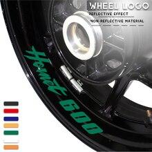 Moto rcycle rad logo aufkleber reflektierende moto felge reifen zubehör dekorative abziehbilder für HONDA HORNET600 hornet 600