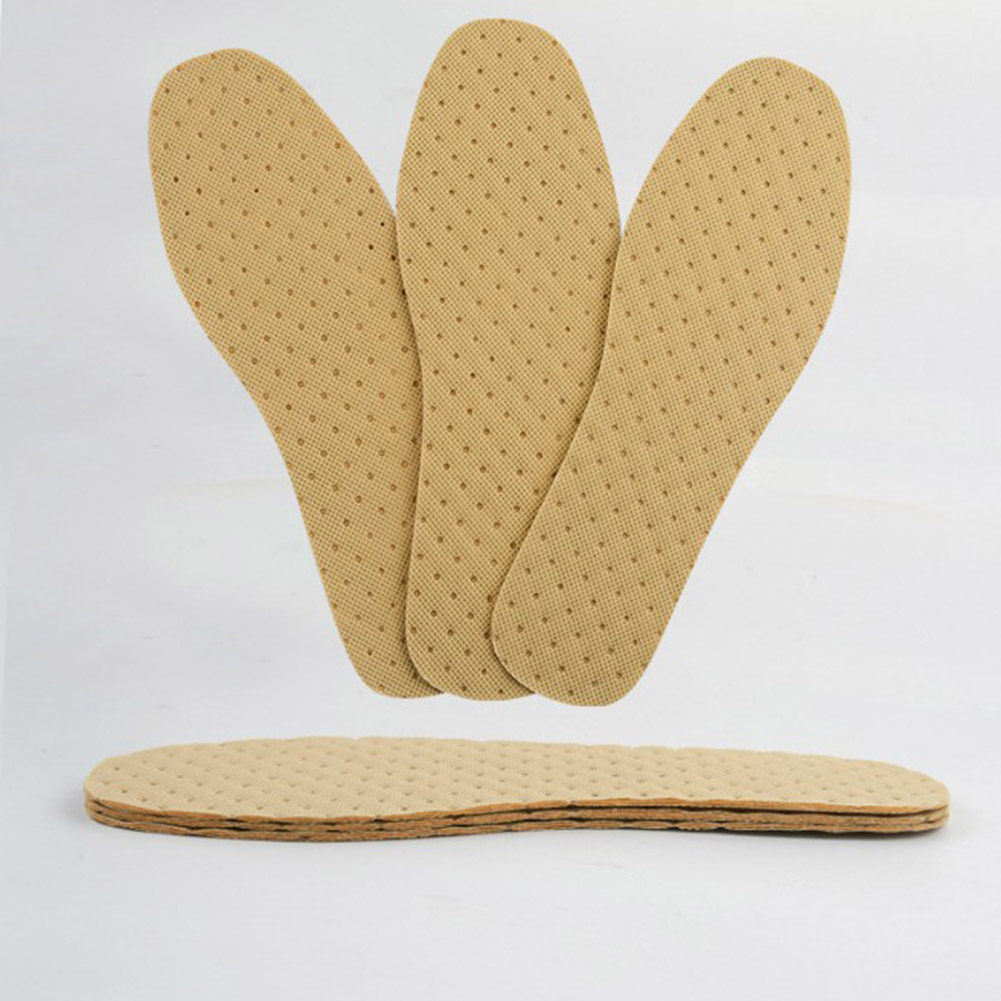 1 Pair Wood Pulp Shoes Insole Inserts Footwear Deodorant Breathable Sweat-absorbent Insole Summer Thin Deodorant Insoles