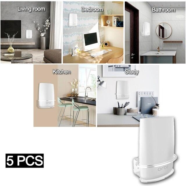 5 PCS Klar Acryl Wand Halterung Robuste Halterung Für Netgear Orbi WiFi Router Für Orbi RBS40, RBK40, RBS50, RBK50, AC2200, AC3000