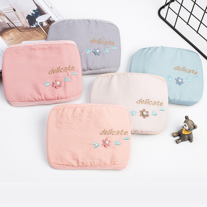 2019 Winter New Style Women's Cotton Lettered Embroidered Warm Face Mask Windproof Dustproof-Style Face Mask Manufacturers
