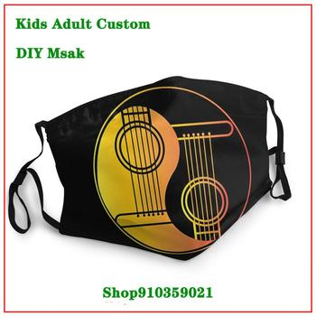 New Trendy 2020 Hot-Sale-100-Cotton-Yin-and-Yang-Guitar-Shirt--for-Guitarist-Summer Style DIY mascarilla reutilizable