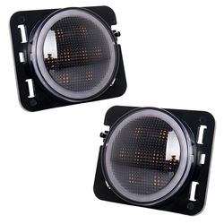 Wrangler mit fender flares lampe mit der funktion der engel augen gedreht, um die LED auto licht fender flares licht