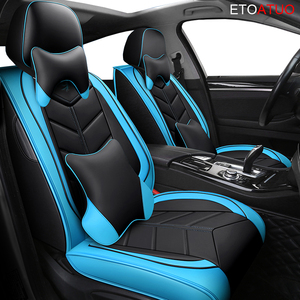 Image 4 - Full Coverage Eco leather auto seats covers PU Leather Car Seat Covers for VW polo beetle golf golf plus jetta scirocco passaat