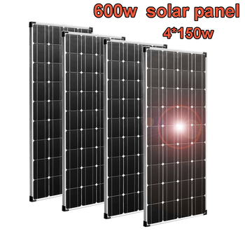 solar panel 600w flexible monocrystalline 12v solar battery charger solar cell 18v for car boat RV camping hiking home system solar panel 5v 6v 9v 12v 18v photovoltaic panel epoxy solar cell 1w 2w 3w 5w 6w 7w 9w 10w battery charger for mini solar system