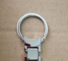 50X מתכת רכב לוגו מפתח טבעת שרשרת keychain keyring עבור אאודי S קו Sline A3 A4 A6L Q3 Q5 Q7 s3 S6 RS4