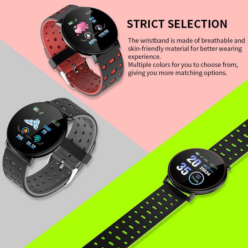 2020 สร้อยข้อมือสมาร์ทนาฬิกา Man Wen กันน้ำวัดความดันโลหิตฟิตเนส Tracker Heart Rate Monitor Pedometer สมาร์ท