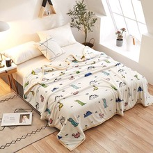 купить New Hot Ferret cashmere blanket Brand Adult Spring Summer Thick Warm Blanket Super Soft Coral Fleece Blanket On The Bed дешево