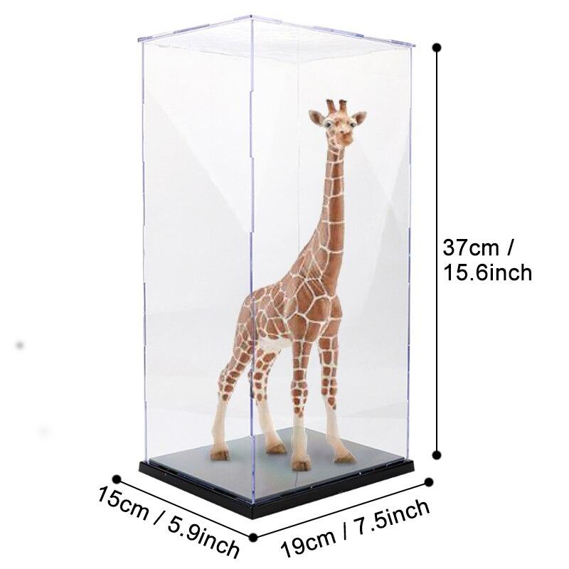 Présentoir anti-poussière jouet assemblé acrylique en plastique Transparent présentoir pour figurines d'action Kits de construction jouets pour adulte