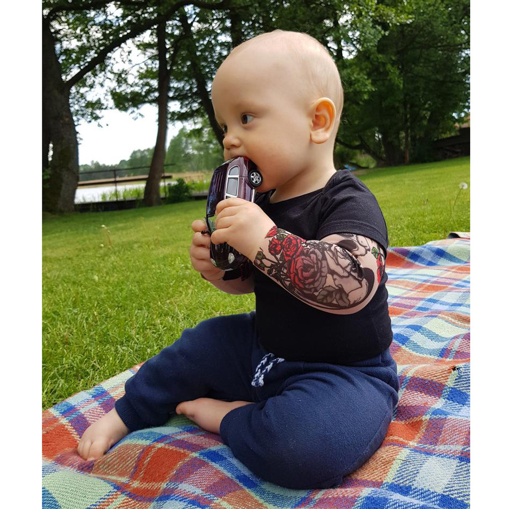 T-<font><b>shirt</b></font> <font><b>Baby</b></font> Boy Tattoo Printed <font><b>Long</b></font> <font><b>Sleeve</b></font> Patchwork Romper Bodysuit <font><b>baby</b></font> boy clothes kids t <font><b>shirts</b></font> for boys image