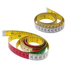 Body Measuring Colorful Ruler Sewing Tailor Tape Measure 1.5M Soft Sewing Ruler Meter Sewing Measuring Tape Double-sided Scale sewing tailor tape measure soft 1 5m sewing ruler meter sewing measuring tape body measuring ruler random color