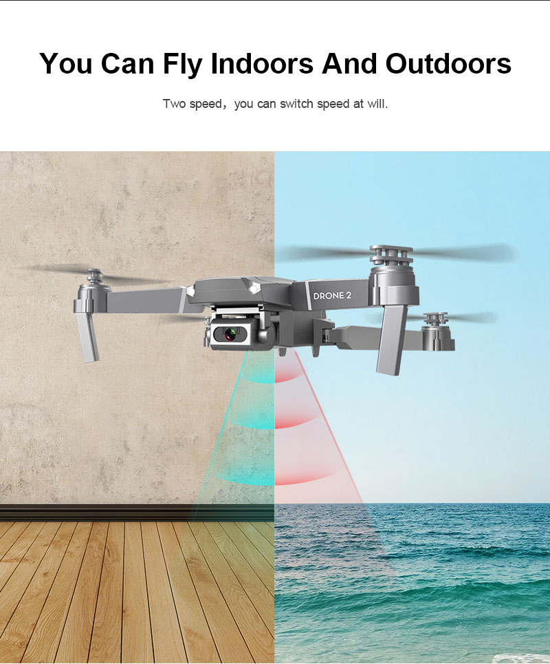 New E68 WIFI FPV Mini Drone With Wide Angle HD 4K 1080P Camera Hight Hold Mode RC Foldable Quadcopter