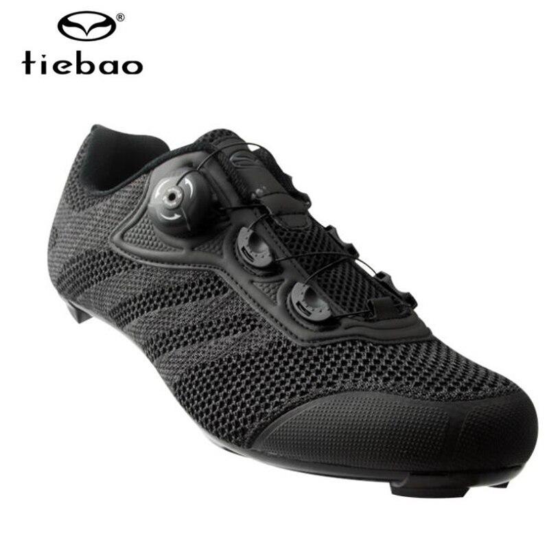 Купить с кэшбэком Tiebao Men Road Bike sapatilha ciclismo Cycling Shoes Racing Triathlon Shoes Zapatillas Ciclismo Breathable Bike  Sneakers