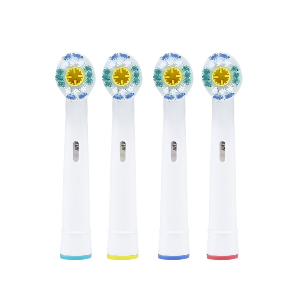 Universal 4 Pcs Replacement Electric Toothbrush Heads For Oral B Braun Vitality EB-18A Soft Tooth Brush Heads image