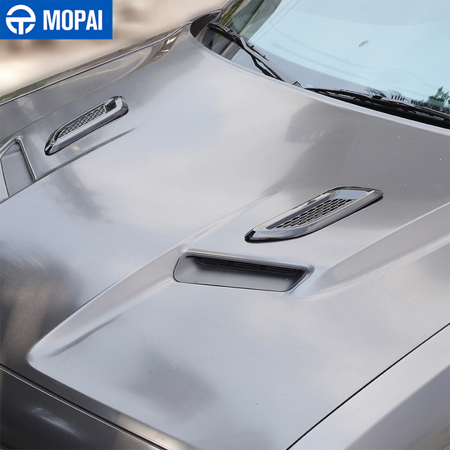MOPAI Car Front Hood Air Vent Cover Decor Stickers Exterior Accessories for Dodge Challenger for Dodge Charger for Dodge RAM 5