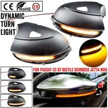 Led asa lateral espelho retrovisor indicador blinker repetidor dinâmico transformar a luz do sinal para vw passat b7 cc scirocco jetta mk6 eos