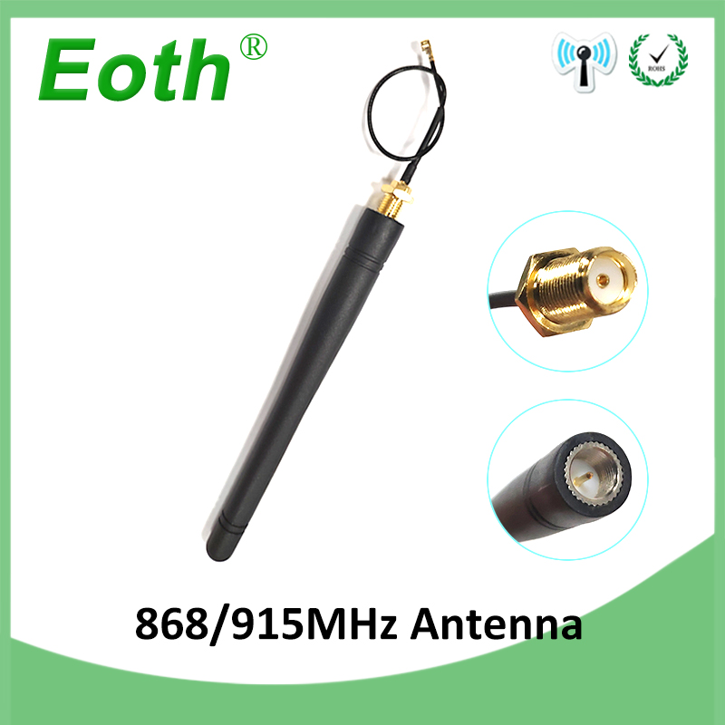 868MHz 915MHz Antenna 3dbi Atraight Shape Antena SMA Male Connector GSM Antenne 868 Mhz 915 MHz +21cm RP-SMA/u.FL Pigtail Cable