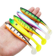 Wokotip 3pcs/lot Soft Fishing Lure 13cm 10g Silicone Bait Shad Worms Bass Pike Minnow Swimbait Rubber Fish Lures(China)