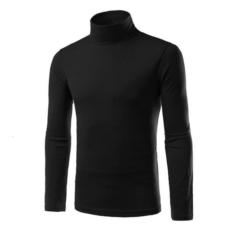 New Autumn And Winter  High Solid Collar Men's Sweater Tight Men's Sweater Fit Mark XXL